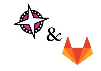 Gitlab and Compaas logos